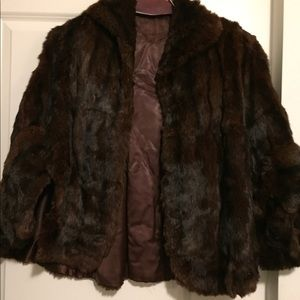Jackets & Blazers - Fur cape
